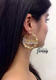 name plated earrings 38 best custom gold name jewelry images on trendy