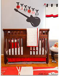 Rock N Roll Crib Bedding New Nursery Decor Featuring Black Gray And White Design Bellini Buzz