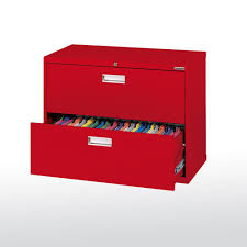 Single Drawer Lateral File Cabinet Sandusky 600 Series 28 In H X 36 In W X 19 In D 2 Drawer