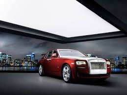 sweptail rolls royce inside rolls royce ghost red diamond is inlaid with 41 diamonds