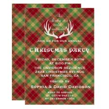 plaid christmas plaid christmas invitations announcements zazzle