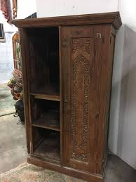 Wood Armoire Wardrobe 6ft Hand Carved Solid Wood Armoire Wardrobe Home Antique Furniture