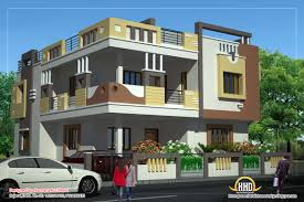 duplex house plan and elevation view 3 218 sq m 2349 sq ft