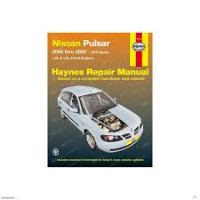 haynes car repair manual book nissan pulsar n16 2000 2005 qg16de