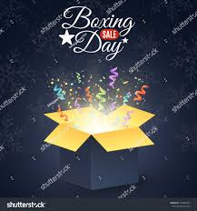 boxing day winter sale open stock vector 740823397
