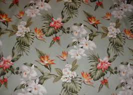 Upholstery Fabric Hawaii Waiakea Vintage Style Tropical Botanical Vintage Hawaiian Fabric