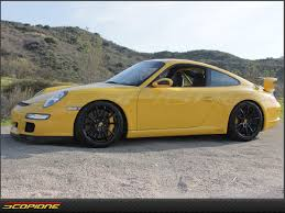 yellow porsche side view scopioneusa com porsche 911 gt3 trunk deck carbon fiber spoiler