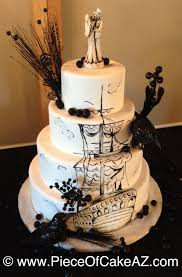 Halloween Wedding Cake by Hand Painted Pirate Ship Halloween Wedding Cake For Miss Evil