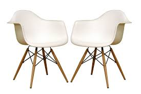 Shell Chair Baxton Studio Pascal Mid Century Modern Shell Chair Set Of 2