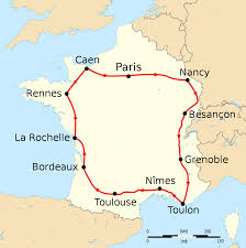 Road Map Of France by 1905 Tour De France Wikipedia