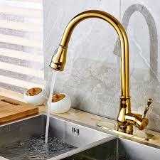kitchen faucet plate reviews modern single handle golden brass kitchen faucet vessel