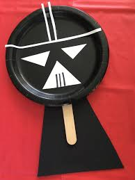 paper plate darth vader puppet the chirping moms