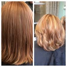 short hair blonde and copper highlights hair nutrients