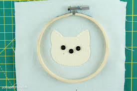 Free Cross Stitch Christmas Ornament Patterns Cat Embroidery Hoop Christmas Ornaments The Polka Dot Chair