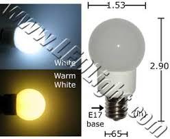 1 5 watt appliance e17 base led light bulb household led lights