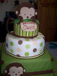 monkey baby shower cake omg matched kaelobs baby bedding nursery perfectly wish i had