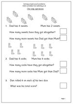 year 1 maths worksheet solve simple word problems maths blog