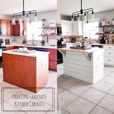 before and after pictures of painted laminate kitchen cabinets painting laminate kitchen cabinets on summerlin