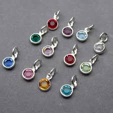 bead necklace charms images Swarovski birthstone charms 4mm swarovski crystal channel jpg