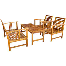 Outdoor Furniture Set Vidaxl Four Piece Garden Furniture Set Acacia Wood Vidaxl Com