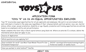 Resume For Factory Job by Toys R Us Job Application Printable Job Employment Forms