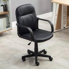 Amazon Com Belleze Mid Back Office Chair Leather Ergonomic Desk
