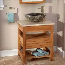 bathroom vanity with vessel sink luxury 24 anders teak vessel sink