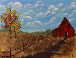 focal point the stepping easy easy landscape painting for