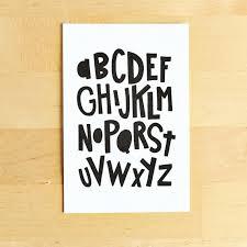 Abc Nursery Decor Alphabet Print 16x20 Abc Nursery Decor Nursery Modern