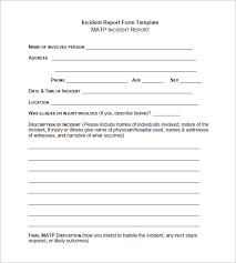 Free Incident Report Form Template incident report format chappedan us
