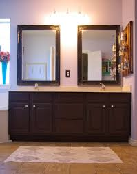bathroom furniture double integrated sinks tuscan dark gray half