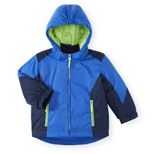 koala kids 3 in 1 hooded blue jacket with zip out inner jacket