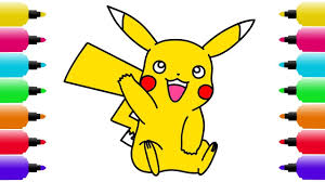 learning colors pikachu coloring page fun coloring activity for