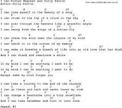 country i can porter wagoner and dolly parton lyrics and chords