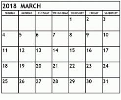 printable calendar template march 2018 calendar printable site provides calendar template of