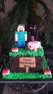 minecraft cake toppers steve herobrine u0026 a creeper made with