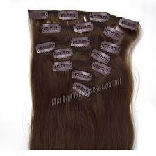 real hair extensions clip in 15 inch 4 medium brown clip in human hair extensions 7pcs