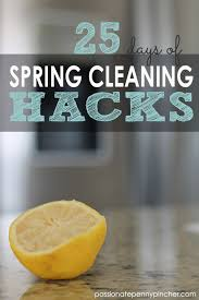 Spring Cleaning Hacks 25 Days Of Spring Cleaning Hacks Archives Passionate Penny Pincher