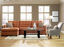 Tufted Faux Leather Sofa by Living Room Orange Tufted Living Room Lounge With Grey Faux