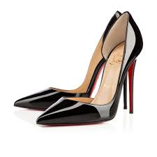 christian louboutin tibur spikes patent leather noisette light
