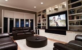 delightful home theater its a living room design with big screen