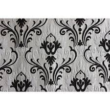 Black Ivory Curtains Ivory N Black Chenille Damask Upholstery Fabric Curtain Panels