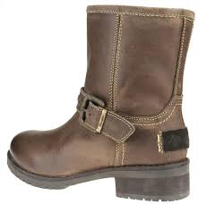 ladies brown biker boots wrangler cyril nashville brown zip biker boots low buckle fleece