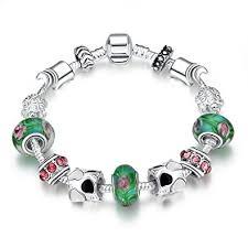 beads charm bracelet images Naivo designer inspired crystal snake chain murano jpg