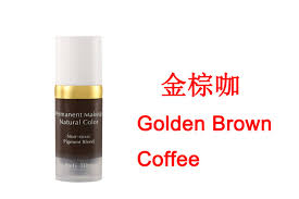 golden brown coffee coffee colors natural manual ink cosmetic