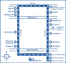 navy pier map peggy and alan wedding