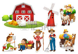 A Cartoon Barn Illustration Of A Set Of Farmers And A Barn Royalty Free Cliparts
