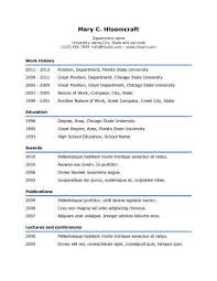 Formats For Resumes Simple Resume Templates 75 Examples Free Download