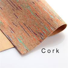 Cork Material Cork Fabric Colorful Cork Leather Material Kork 60
