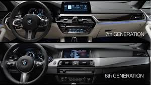 bmw 5 series dashboard old versus new bmw 5 series f10 and g30 video comparison